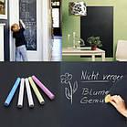 Самоклеющаяся пленка для рисования мелом Black Board Sticker, доска для рисования мольберт для рисования мелом, фото 4