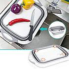 Доска разделочная 4 в 1, доска разделочная складная, миска доска, доска для кухни, доска трансформер, фото 6