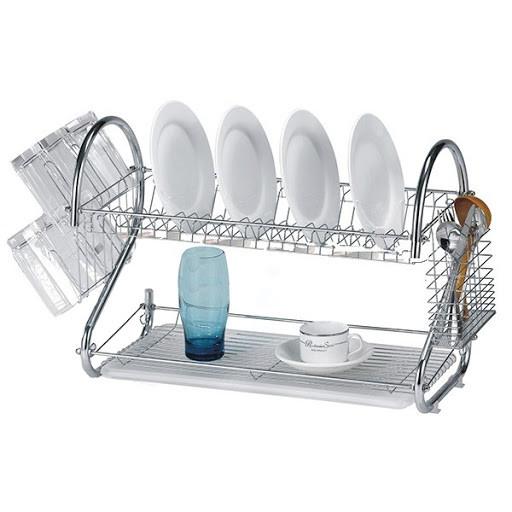 Сушилка для посуды Kitchen storage rack из нержавеющей стали, органайзер для посуды, полка для посуды