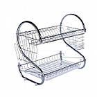 Сушилка для посуды Kitchen storage rack из нержавеющей стали, органайзер для посуды, полка для посуды, фото 3