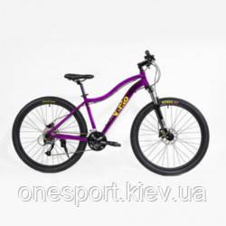 ВЕЛ Велосипед(Vento) LEVANTE 27.5 Turqoise Gloss 15,5/S + сертификат на 500 грн в подарок (код 125-660274)