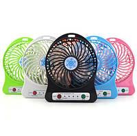 Портативный USB мини-вентилятор с аккумулятором Portable Mini Fan (настольный)! Акция