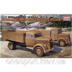 Наземный транспорт 2МВ, серия 5 Немецкие грузовики (ранний и поздний) (код 200-395651)