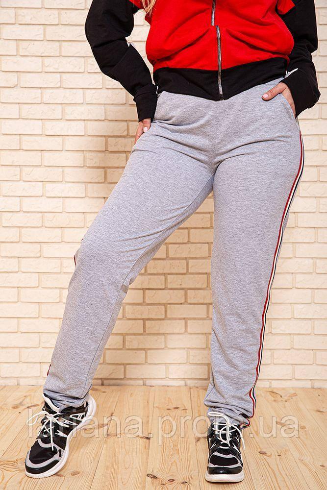 Спорт брюки женские 102R086 цвет Серый