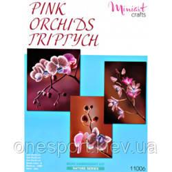 Набор для вышивания Триптих Розовые Орхидеи (код 200-594162)