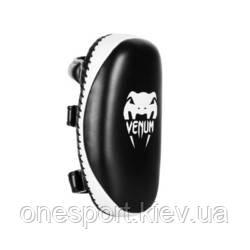 Макивары VENUM Light Kick Pad - Skintex Leather чёрный/белый + сертификат на 200 грн в подарок (код
