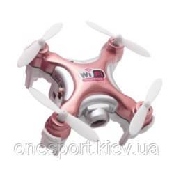 Квадрокоптер нано р/у Cheerson CX-10WD-TX з камерою Wi-Fi (рожевий) + сертифікат на 50 грн в подарунок (код