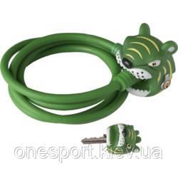 BASIC COLLECTION Замок Зеленый Тигр мягкая оплетка, блокировка транспорта (код 253-490600), фото 2