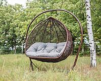 Кресло-качалка королевская с подставкой для ног Дабл Арч