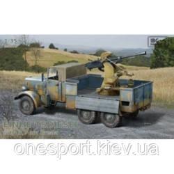 Фронтовой грузовик вермахта Einheitsdiesel с 37-мм зенитным артиллерийским орудием Breda + сертификат на 50, фото 2