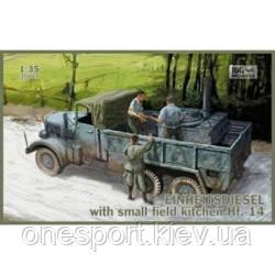 Фронтовой грузовик Einheitsdiesel с небольшой полевой кухней Hf.14 + сертификат на 50 грн в подарок (код, фото 2