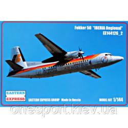 Пассажирський самолет Fokker 50 IBERIA Regional + сертификат на 50 грн в подарок (код 200-549449)