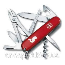 1.3653.72 Ніж Victorinox Swiss Army Angler червоний + сертификат на 100 грн в подарок (код 161-629236)