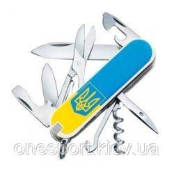 Ніж Victorinox Climber Ukraine 1.3703.7R3 тізуб ж / б + сертификат на 50 грн в подарок (код 161-629356)