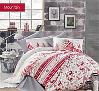 Новогодний комплект постельного белья Евро рождественская постель турция Santa1 TM BEGENAL