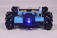 Машинка на радиоуправлении Drifter Turbo Air-Released с музыкальной подсветкой синяя, фото 6
