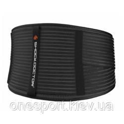 Бандаж спины компрессионный SHOCK DOCTOR Deluxe Back Support L/XL чёрный/серый + сертификат на 100 грн в