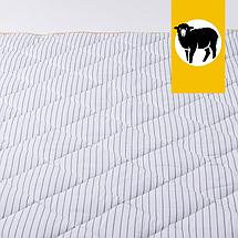 Одеяло с шерсти Мериноса Всесезонное Goodnight.Store 100х140 см (цвет синий / белый в полоску), фото 3