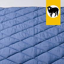 Одеяло с шерсти Мериноса Всесезонное Goodnight.Store 100х140 см (цвет синий / белый в полоску), фото 2