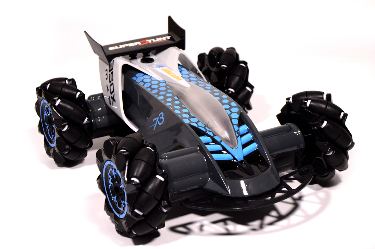 Машина на радиоуправлении DRIFTER Turbo Air-Released + управление жестами с подсветкой и паром серая