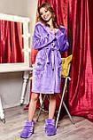 Домашние женски угги, мягкие плюшевые саможки, тапочки. Сиреневые, фиолетовые, фото 3