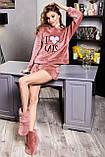 Домашние женски угги, мягкие плюшевые саможки, тапочки. Темно-розовые, фото 3