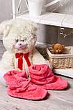 Домашні жіночому уггі, м'які плюшеві саможки, тапочки. Яскраво-рожеві, малинові, фото 2