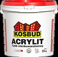 Штукатурка акриловая KOSBUD ACRYLIT, барашек, база, 25 кг