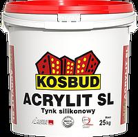 Штукатурка силиконовая, KOSBUD ACRYLIT-SL, барашек, база, ведро 25 кг