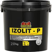 Асфальтно-каучуковая масса модифицированная смолой, IZOLIT-P, ведро 20 кг