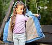Парку джинсова дитяча на хутрі з капюшоном (хлопчик, дівчинка) 128,134,140,146,152, фото 6
