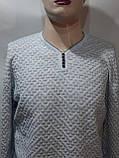 Хл, ххл р  Стильный шерстяной мужской свитер с v-образным вырезом Турция Бежевый, фото 7
