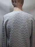 Хл, ххл р  Стильный шерстяной мужской свитер с v-образным вырезом Турция Бежевый, фото 9