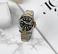 Механічні чоловічі годинники Rolex Submariner. Золоті з чорним циферблатом. Репліка AAA класу