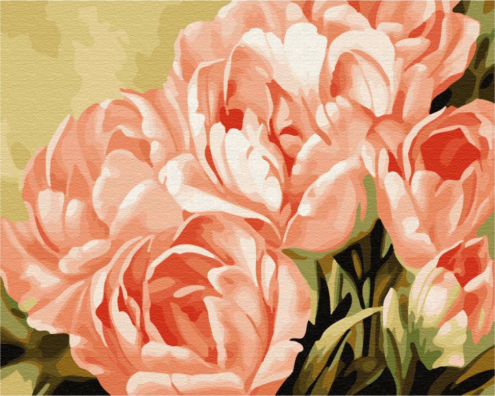 "Картина по номерам. Brushme ""Розовые розы"" GX7268"