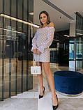 Нарядное платье из сетки на подкладе в крупный горох 39-125-2, фото 8