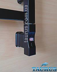 Електротена Heatpol H+Eco квадратний 30х30 MS chrome: Регулювання 10-65C + таймер 1-9 ч. + Маскування проводу Чорний