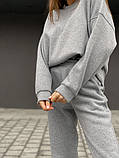 Теплый женский оверсайз костюм 39-583, фото 5