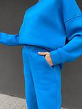 Лазурный теплый женский оверсайз костюм 39-583-1, фото 2