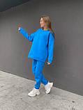 Лазурный теплый женский оверсайз костюм 39-583-1, фото 3