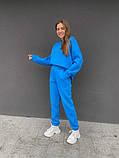 Лазурный теплый женский оверсайз костюм 39-583-1, фото 5