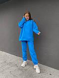 Лазурный теплый женский оверсайз костюм 39-583-1, фото 4