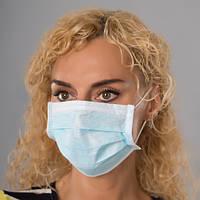 Медицинская маска трехслойная нестерильная NicePrice 50 шт Blue (7071)