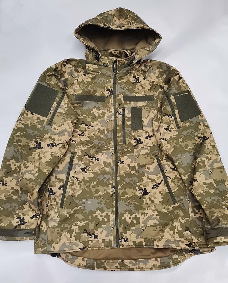 Тактична куртка з капюшоном софтшелл Pixel розмір L (5000HX)