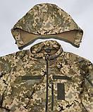Тактична куртка з капюшоном софтшелл Pixel розмір L (5000HX), фото 2
