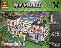 """Конструктор детский Майнкрафт Minecraft Bela 10472 """"Крепость"""" 990 деталей"""