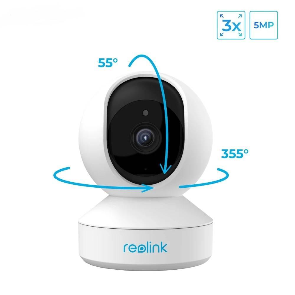 WiFi видеокамера Reolink E1 Zoom (5Mp, IP, поворотная, 3-х зум)