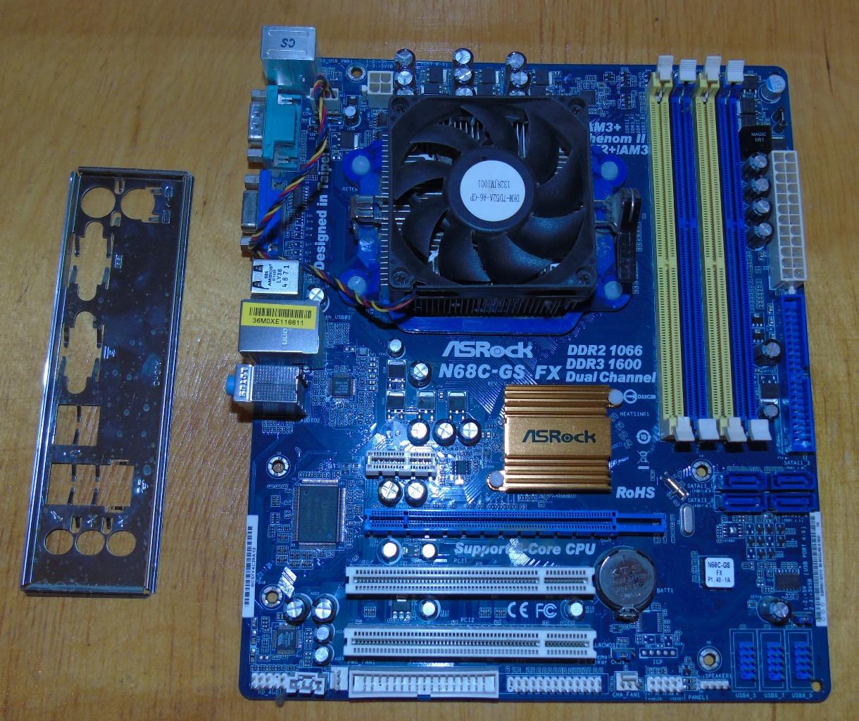 AM3+ Материнская плата ASRock N68C-GS FX+ AMD Athlon II X2 260