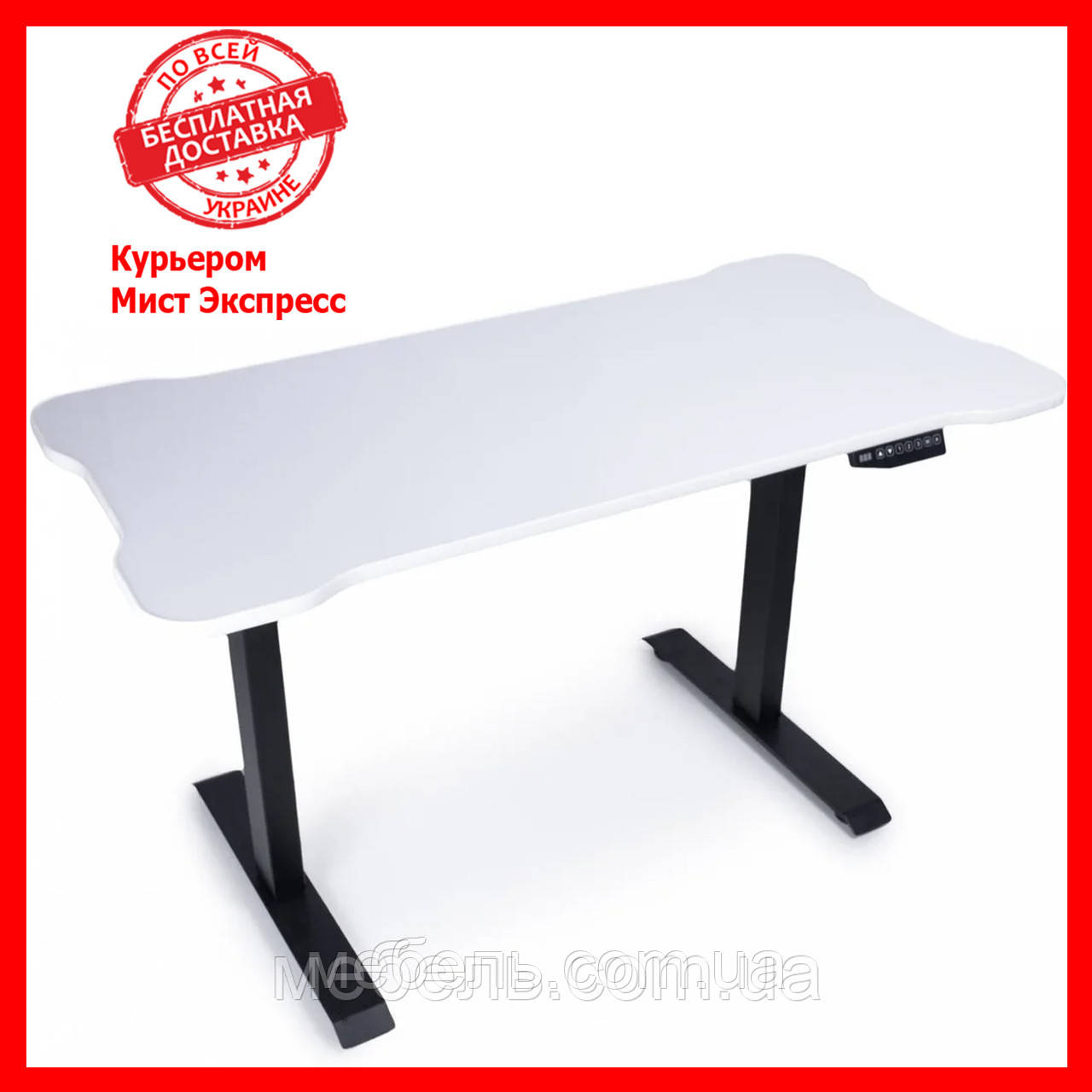 Компьютерный стол с подъемным механизмом Barsky BSU_el-03, регулируемый