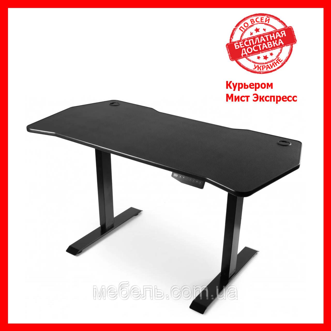 Регулируемый геймерский стол Barsky StandUp Memory electric black carbon 1350*670 BSU_el-04